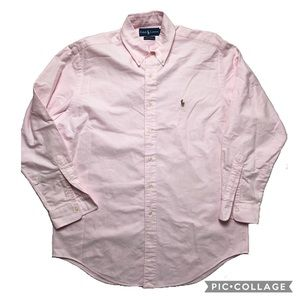 Yarmouth cotton oxford Ralph Lauren Polo soft pink